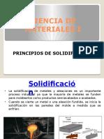 Principios de Solidificación