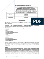 1a Etapa Preevento - Planificación y Organización