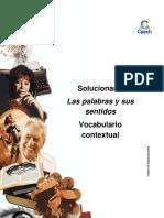 Solucionario Clase 6 Las Palabras y Sus Sentidos Vocabulario Contextual 2016 CES