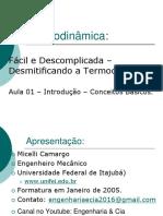 #1 Introdução a Termodinâmica - Conceitos Básicos