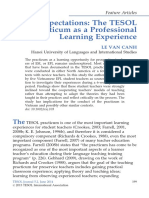Great Expectations the TESOL Practicum as a Professional Learning Experience