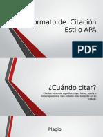 Formato de Citación Estilo APA1