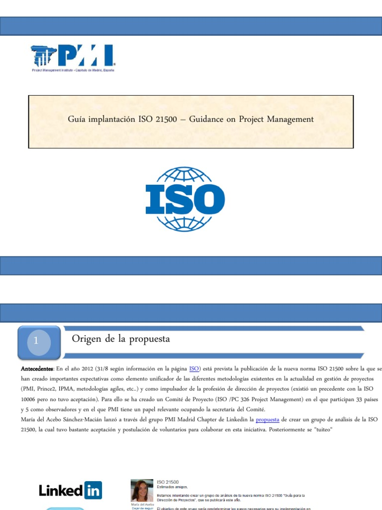 Iso 21500 Guidance On Project Management Pdf