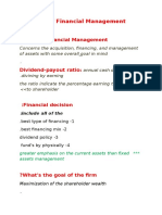 The Role of Financial Management