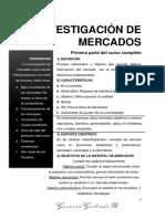 Investigacion de Mercados - Primera Parte Del Curso Completo