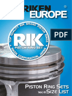 Riken Piston Rings for European Vehicles Vol01; Кольца поршневые RIK vol01