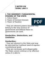 Codes and Notes on Constitutional Law II
