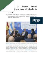 Argentina y España Buscan Reencontrarse Tras El Triunfo de Trump