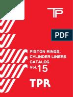 TPR Piston Rings Catalogue for Japanese Vehicles Vol15; Кольца поршневые TP vol15