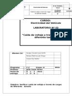 Informe 3 - Caídas de Voltaje de Cargas de Diferente Tamaño