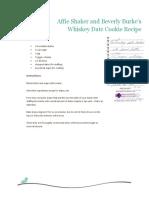 Whiskey Date Cookies