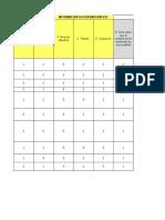 Plantilla Para Tabular Datos