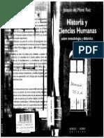 del Moral Ruiz, Joaquín - Historia y ciencias humanas