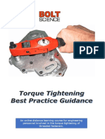 Torque Tightening Best Practice Guidance Online Training Brochure