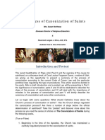 The Process of Canonization of Saints