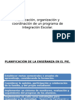 Planificación, Organización y Coordinación de Un Programa
