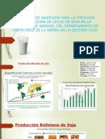 Proyecto de Inversión Para La Creación Procesadora de Leche de Soya