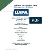Tarea 3 Unidad III Orientacion Universitario (UAPA) 27-05-2016