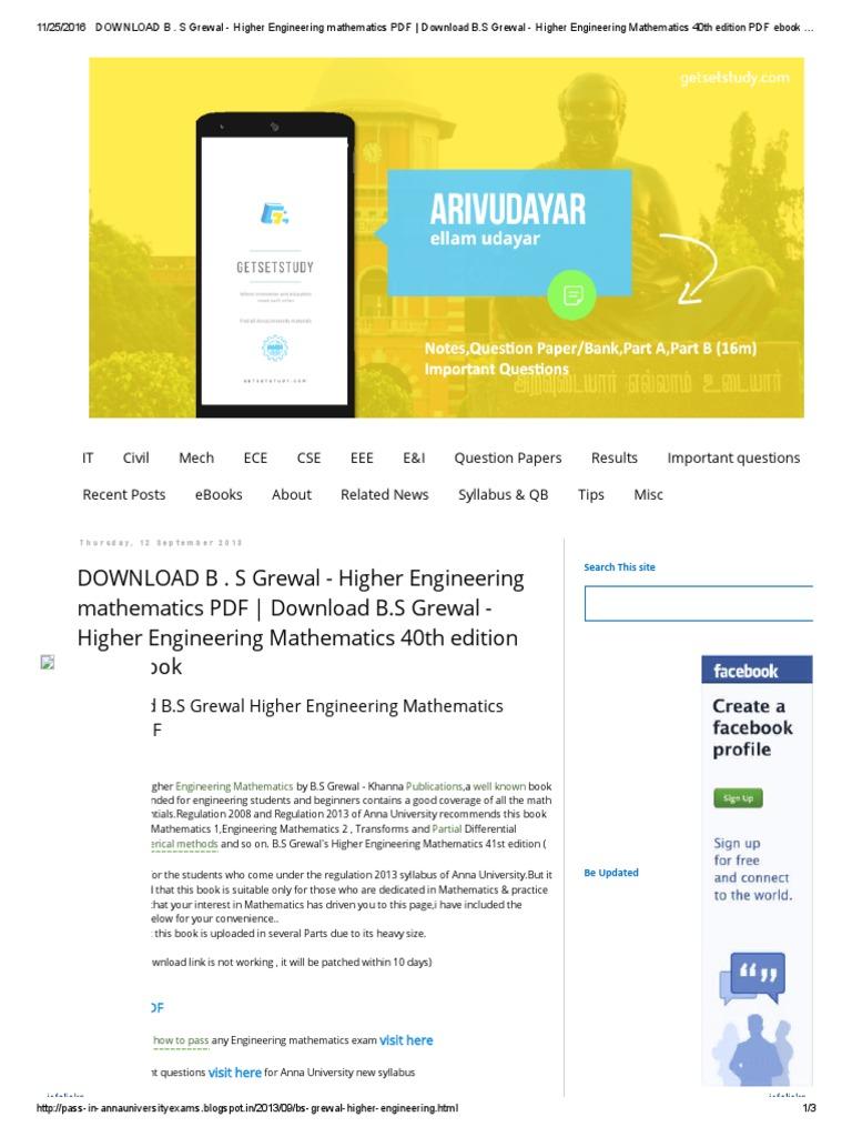 Engineering Mathematics 3 Singaravelu Pdf
