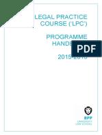 BPP LPC Handbook