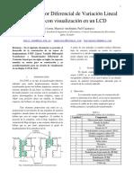 Transformador Diferencial de Variación Lineal  LVDT con visualización en un LCD