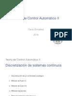 04 Discretizacion Sistemas Continuos