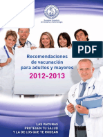 Folleto Profesionales Recomendaciones Gripe2012