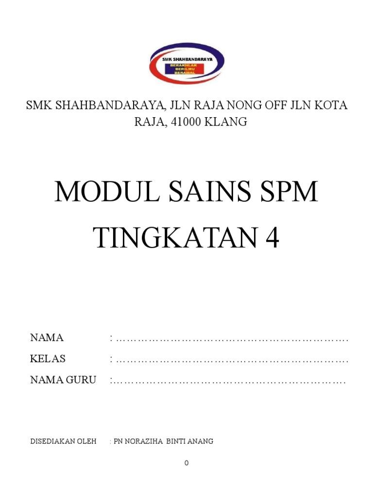 Modul Sains Tingkatan 4