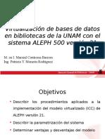 Virtualización de Bases de Datos en Bibliotecas UNAM