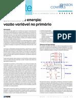 Economia de energia- vazão variável no primário - Johnson Controls