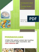 Degradasi Obat Dan Kinetika Reaksi Kimia
