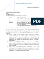 Carta Residente CS Chavin de Huantar