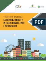 Rapporto Nazionale Sharing Mobility in Italia-2016