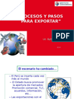 Procesos y Pasos Para Exportar
