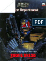 Judge Dredd the Rookie's Guide to the Justice Department