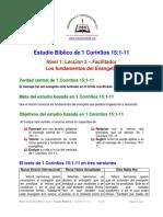 2. Los Fundamentos Del Evangelio [1 Cor 15-1-11] F