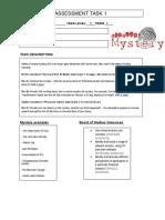 mystery assessment outline