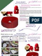 Instrucciones de Costura de Moldes de Disfraz de Santa Para Perros y Cama Mascota Mn0071