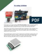 8x8 LED Matrix Using Arduino