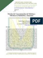 Niveles de Nitratos y Nitritos