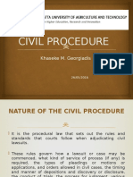 JKUAT- Civil Procedure - 26th May 2016