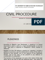 JKUAT- Civil Procedure -23rd June 2016