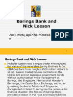 Barings Bank and Nick Leeson