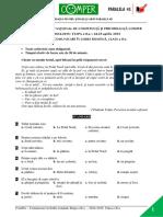Subiect Si Barem LimbaRomana EtapaII ClasaII 14-15