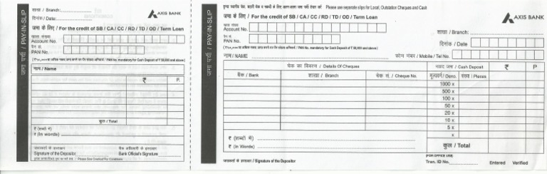 axis bank deposit form  Axis Bank Deposit Slip.pdf