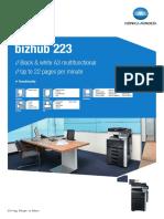 Bizhub 223 Datasheet
