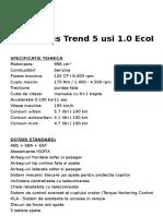 Focus C346 Trend 5 Usi 1.0 EcoBoost 125 CP MT Caribou