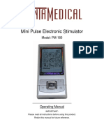 PM-180 Tens Unit Electronic Pulse Massager, Backlit LCD and Rechargeable Battery