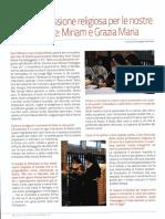 XXV di professione religiosa per le nostre suore clarisse:Miriam e Grazia Maria  (Voce di Seriate 11.2016)