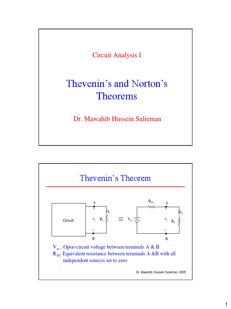 Thevenin Examples 1 Network Analysis Electrical Circuits Is Equivalent Circuit B Find